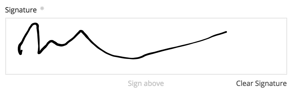 Signature field